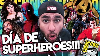 Aquaman, Shazam, Mujer Maravilla, Deadpool, funciónVIP Infinity War y más #ComicCon #Día3
