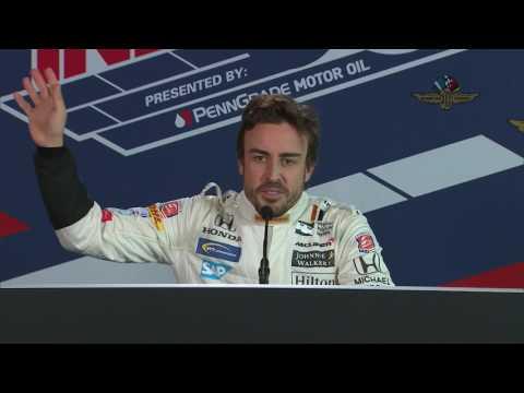 Press Conference after Fernando Alonsos first-ever IndyCar test