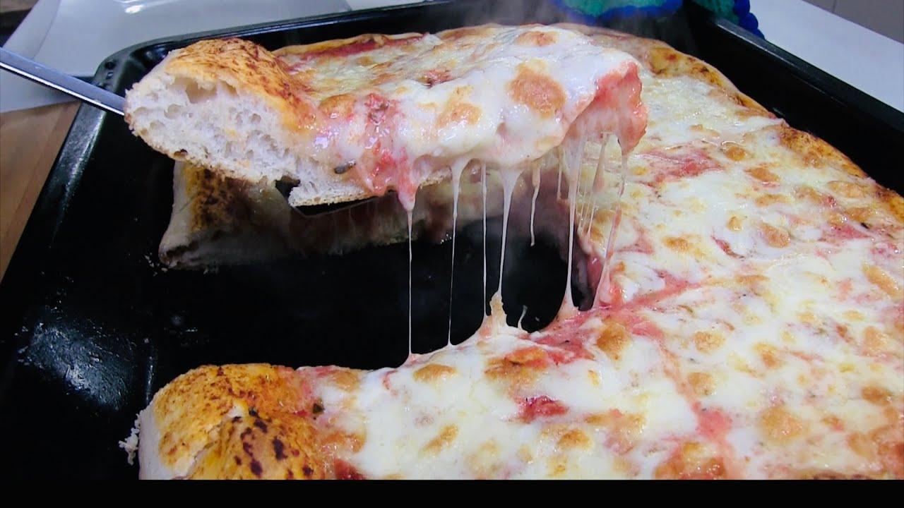 Ricetta Lievito Madre Barbato.Pizza Al Trancio Con Lievito Madre Fatta In Casa Youtube