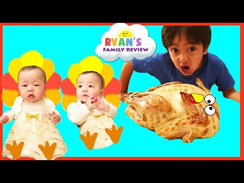 Baby's First Thanksgiving 2016! Ryan's Family Review Holiday Special Event! Family Fun Vlog
