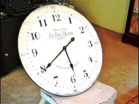 Как сделать часы на стене своими руками
