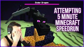 Attempting To Speedrun Minecraft In 5 Minutes