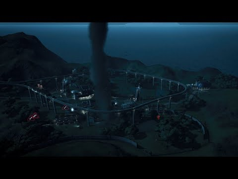 TORNADO in Isla Pena - Jurassic World Evolution