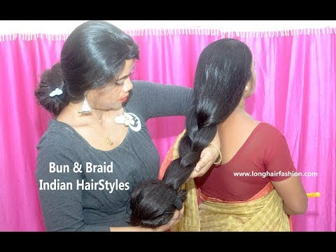 2-minutes-easy-braided-bun-hairstyle-||-homecoming-updo-||-indian-hairstyles
