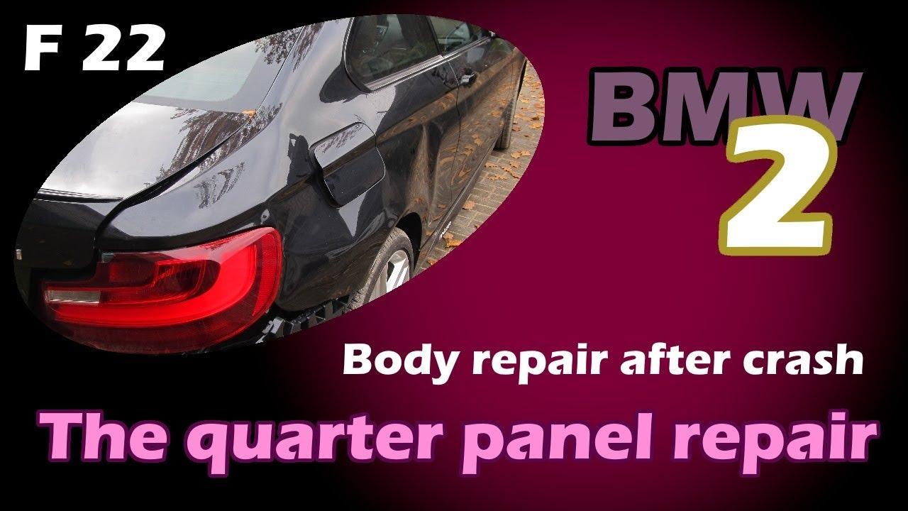 BMW 2. The quarter panel repair. Ремонт заднего крыла.