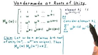 Vandermonde at Roots of Unity - GT - Computability, Complexity, Theory: Algorithms