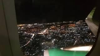 Pesawat Citilink mendarat malam hari