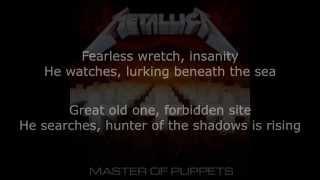 Metallica - The Thing That Should Not Be Lyrics (HD)