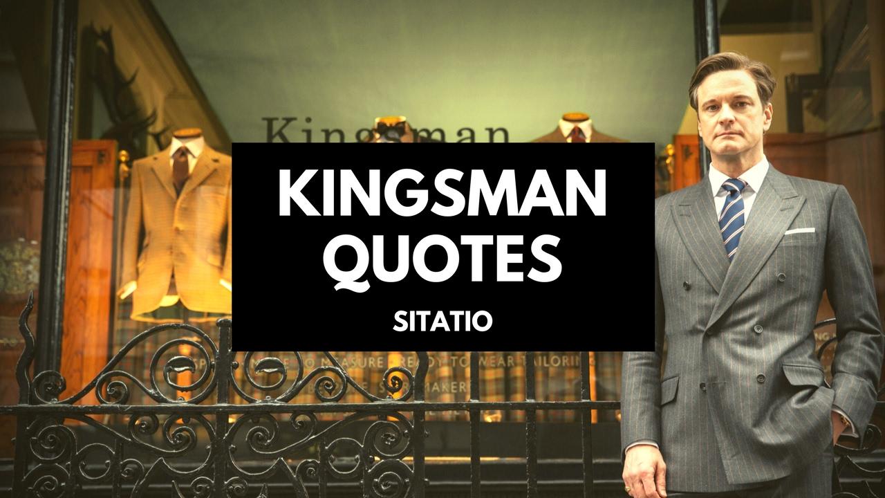 Kingsman The Secret Service Quotes: Kingsman: The Secret Service Quotes