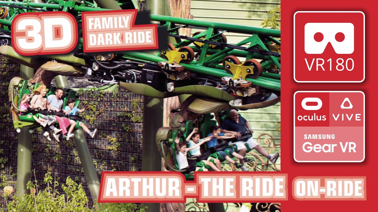 ARTHUR - the Ride VR180 - Minimoys - Family Dark Ride - Europa Park VR 360 - onride POV 3D #Oculus