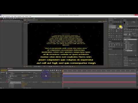 Tutorial After Effects Star Wars, texto de inicio / Template gratis incluido