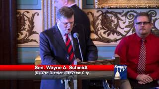Sen. Schmidt urges passage of comprehensive road funding plan