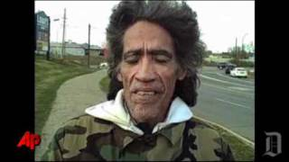 Raw Video: Homeless Man