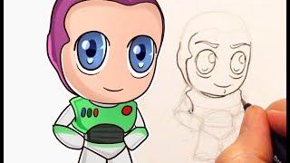 Як малювати Buzz Lightyear Чібі (Toy Story)