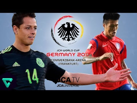 Mexico vs. South Korea | Group D | 2017 JCA World Cup Germany | PES 2017