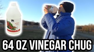 64 OZ WHITE VINEGAR CHUG | INSANE CHUG CHALLENGE