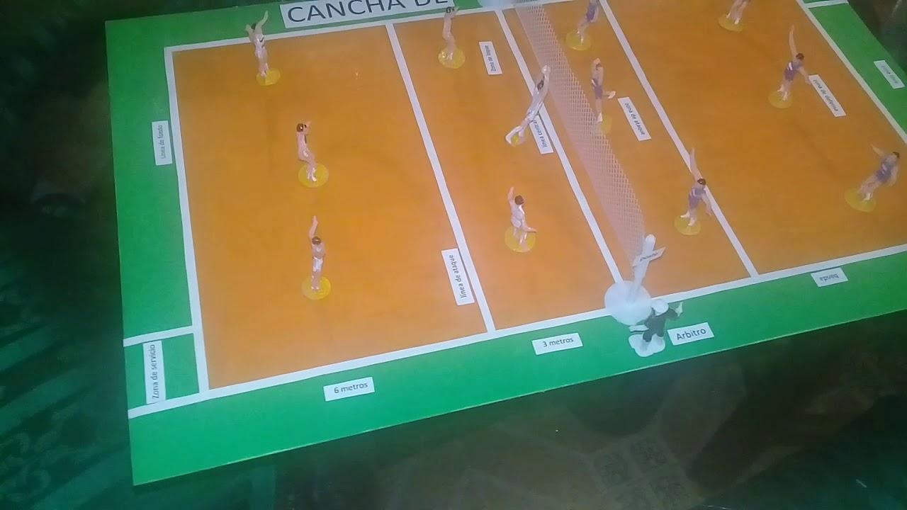 Maqueta De Cancha De Voleibol Youtube
