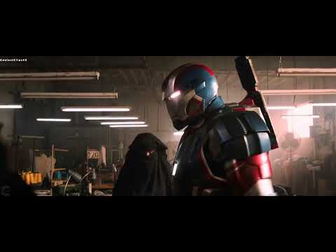 Iron Patriot On The Job Scene   Iron Man 3 2013 Movie Clip 4K +Subtitles