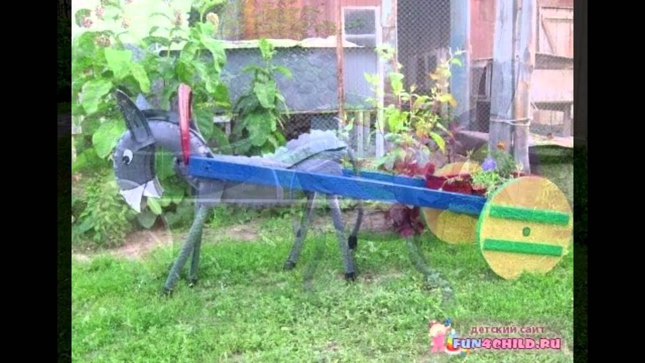 схема разреза клумбы из покрышек для детского сада