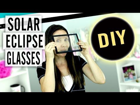 How to Make Your Own Free Solar Eclipse Glasses - Easy DIY