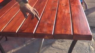 видео Стол для дачи своими руками: изготовление своими руками