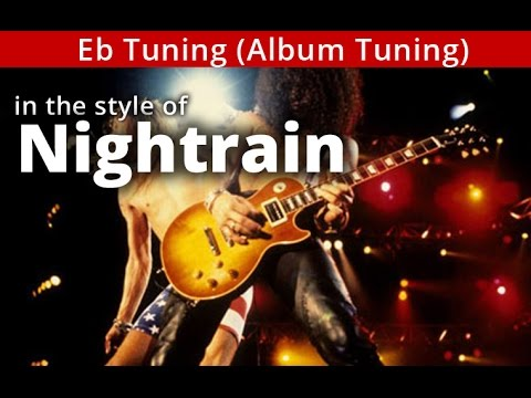 'Nightrain' - Eb tuning - GUNS n ROSES style A minor GUITAR Solo BACKING TRACK