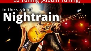 Download 'Nightrain' - Eb tuning - GUNS n ROSES style A minor GUITAR Solo BACKING TRACK MP3 song and Music Video