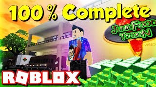 ROBLOX JUNKFOOD TYCOON ( FULLY COMPLETE 100% LET'S PLAY SHOWCASE )