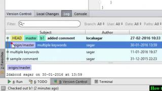 How to view commit log history in git in Intellij IDEA