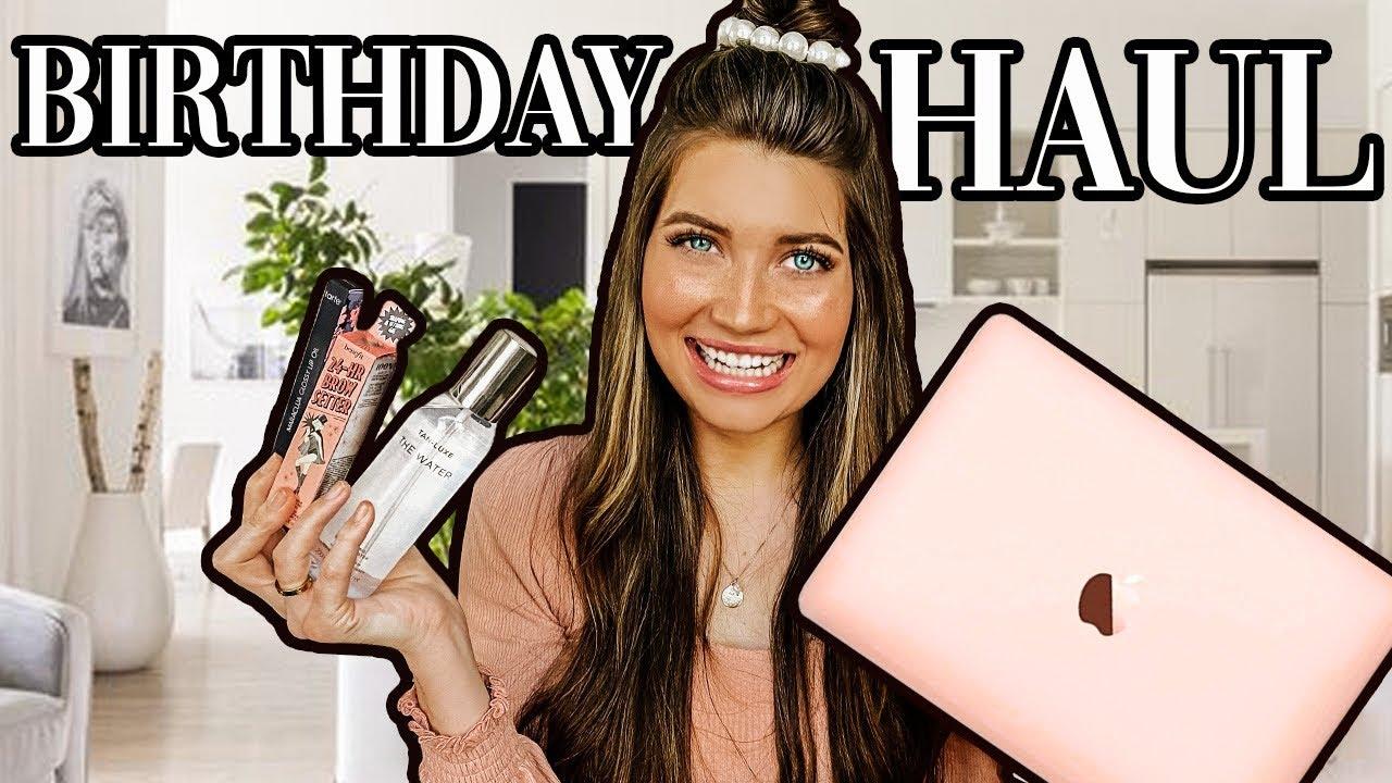 What I Got For My Birthday Surprised Birthday Haul 2020 Youtube