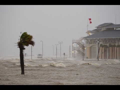 Hurricane Isaac  Into the EYE !! on the Gulf Coast  August 2012
