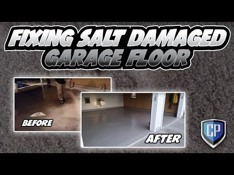 Fixing Salt Damaged Garage Floor