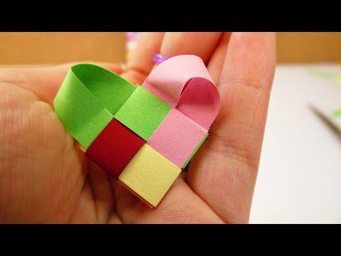 Muttertag Last Minute Idee | Fröbel Herz aus Papierstreifen | einfach & super schön | Geschenk Idee