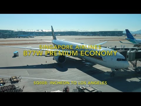 Singapore Airlines PREMIUM Economy from Incheon to Los Angeles
