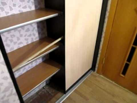 видео: шкаф-купе эконом 1200 обучалка установка.avi