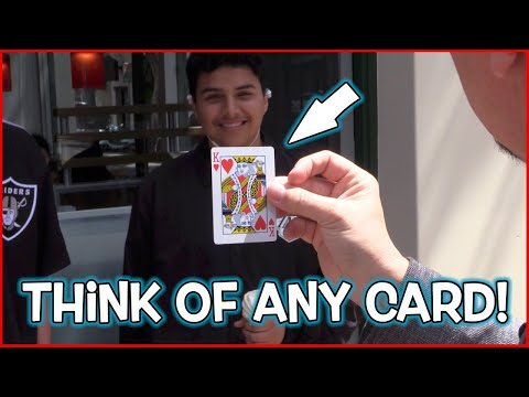 Fastest Mind Reading Card Trick! Level 100/100!