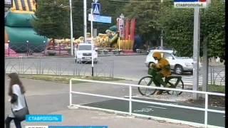 В Ставрополе восстановили цветочного велосипедиста