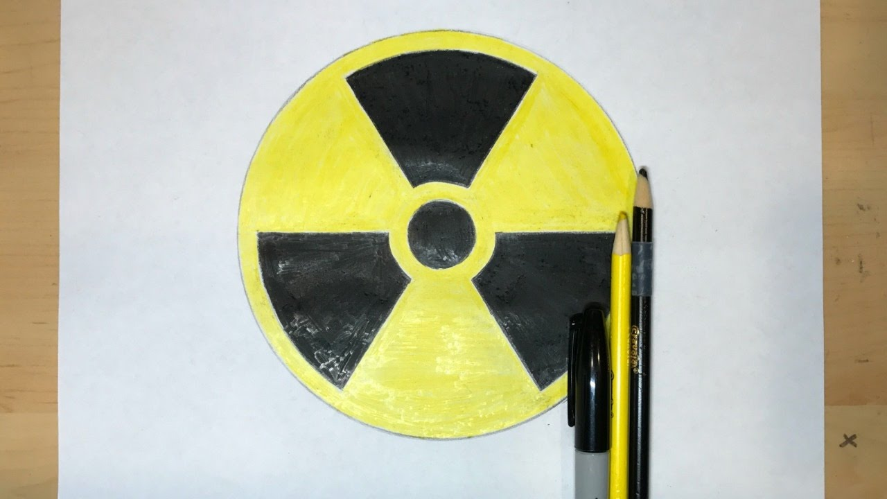 How To Draw The Nuclear Radiation Symbol Symbol Drawing Youtube