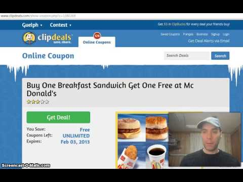Where to find Mcdonalds coupons online for Canadians