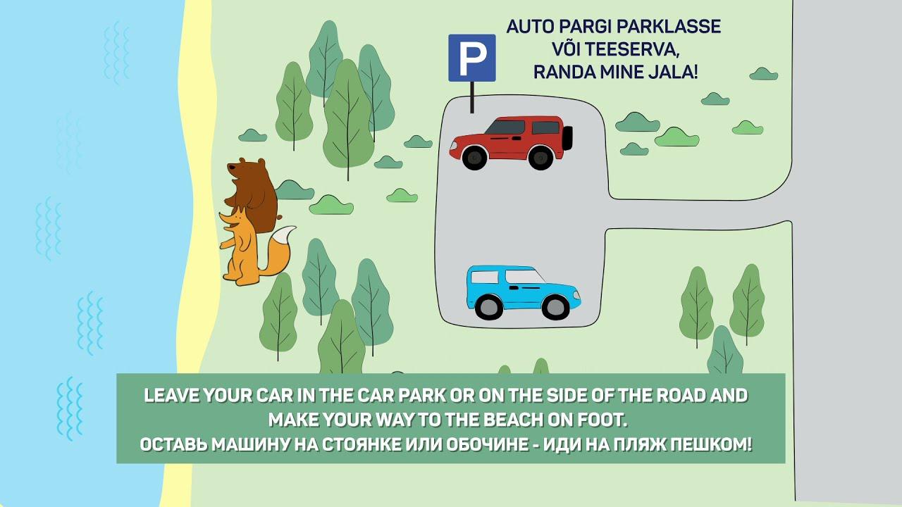 Pargi auto parklasse. Veekogu äärde mine jala!