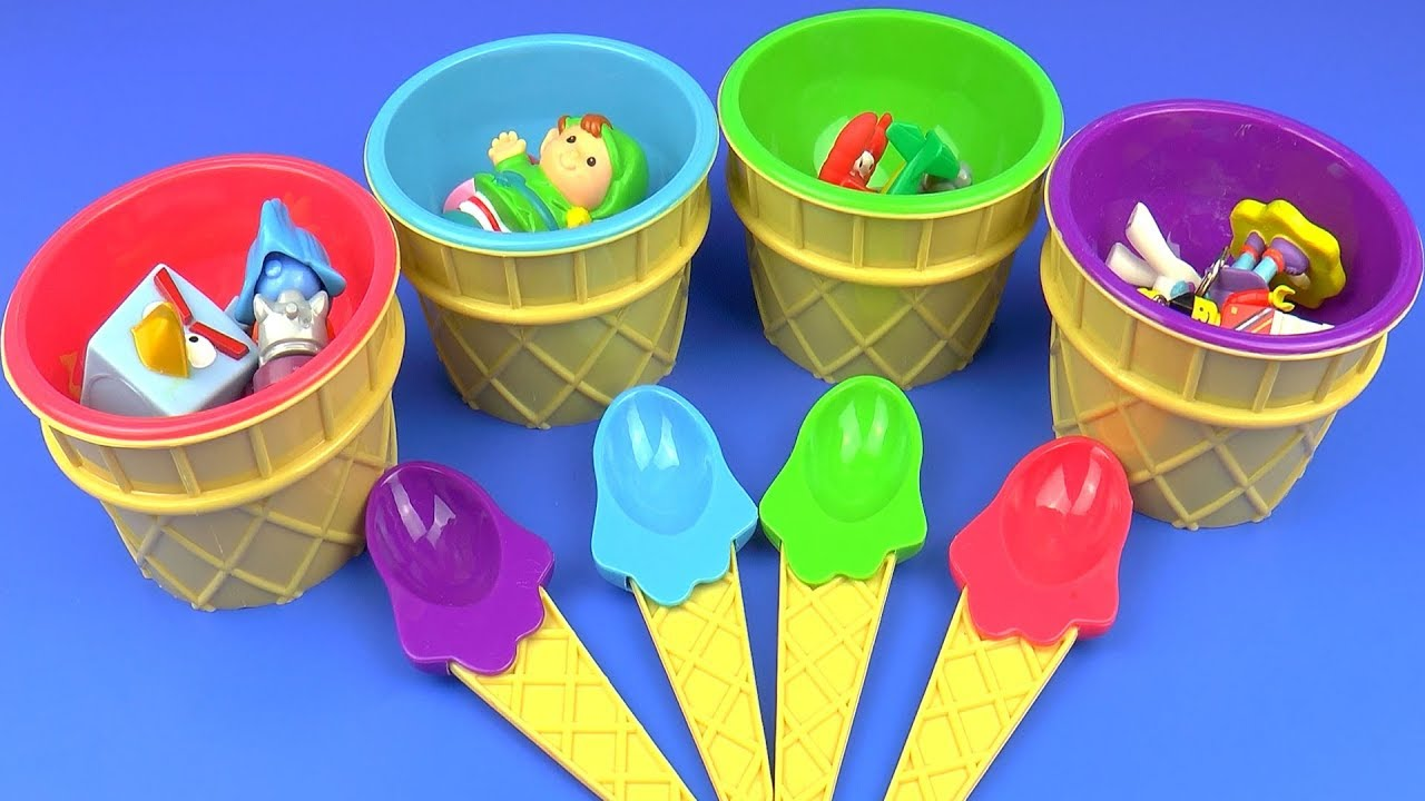 Ice Cream Bowl Surprise toys for Kids Angry Birds Minifigures LEGO