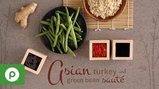 Asian Turkey and Green Bean Saute