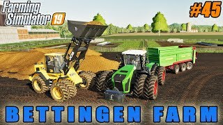 Harvesting sunflower and soybean, spreading manure | FS 19 | Bettingen Farm | Timelapse #44