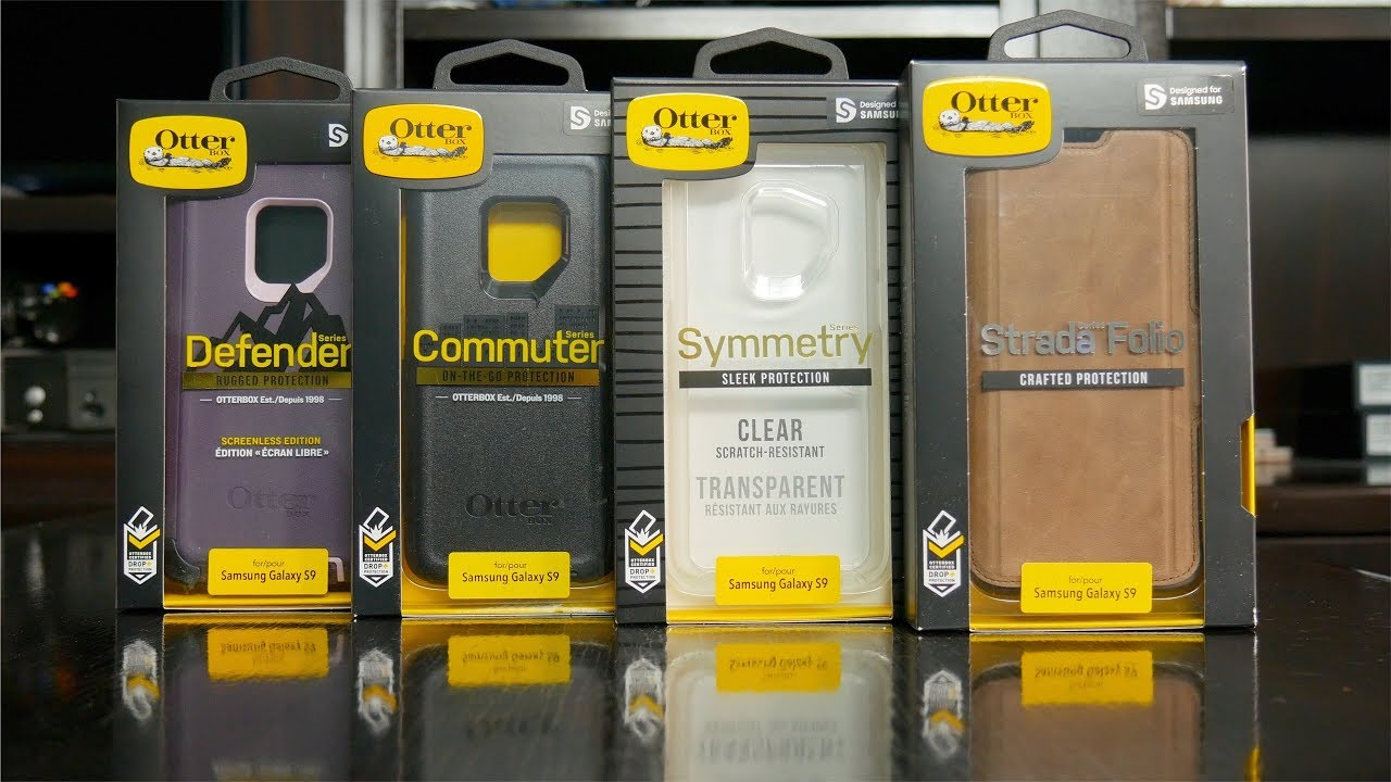 pretty nice 31d5b 4276e Samsung Galaxy S9 - All OtterBox Cases: Defender vs Commuter vs Symmetry vs  Strada Comparison