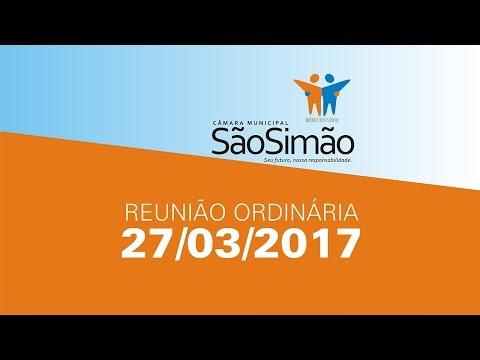 REUNIAO ORDINARIA 27/03/2017