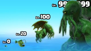 Can I evolve a FISH to MAX LEVEL CTHULU MONSTER? ( Monster Evolution Run )