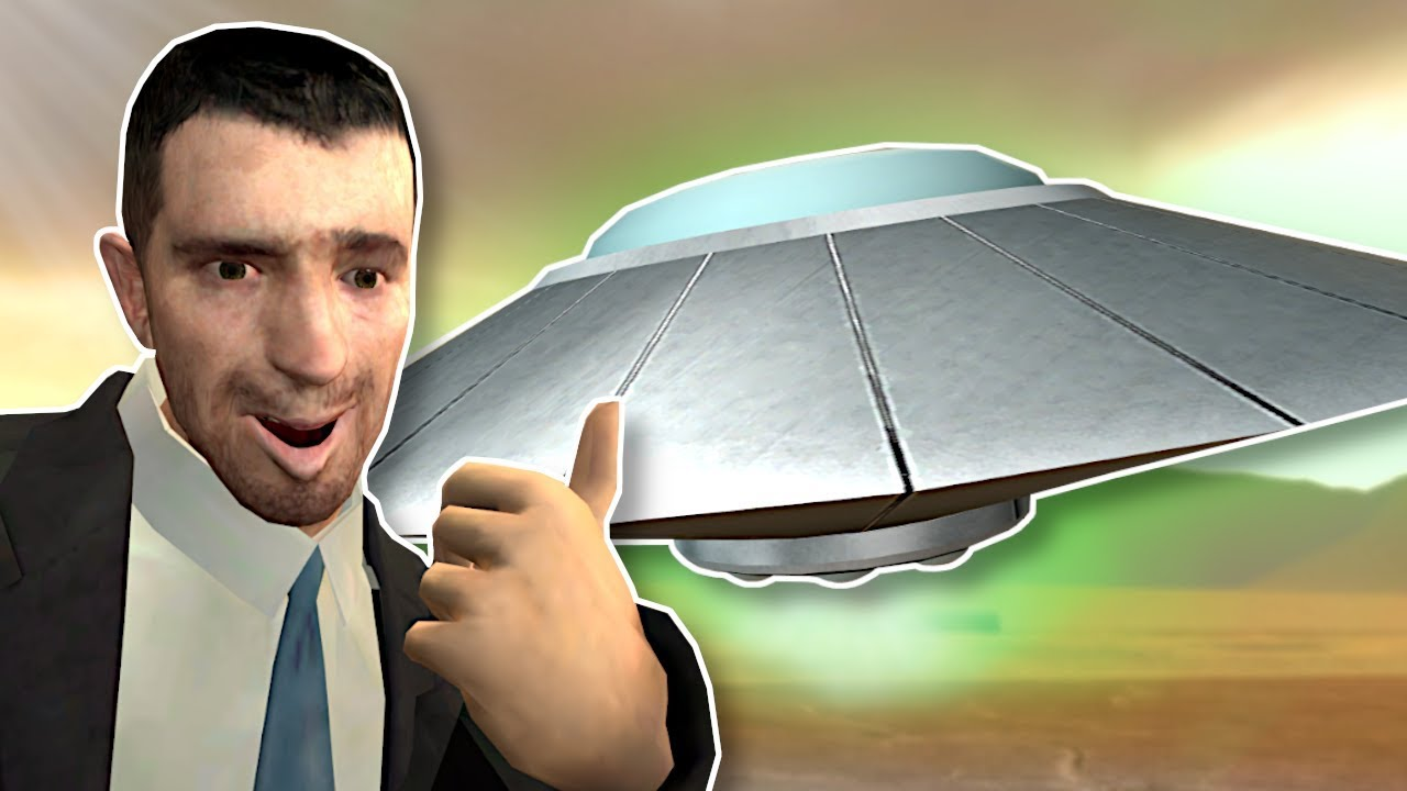 We took a UFO from Area 51? - Garry's Mod Gameplay