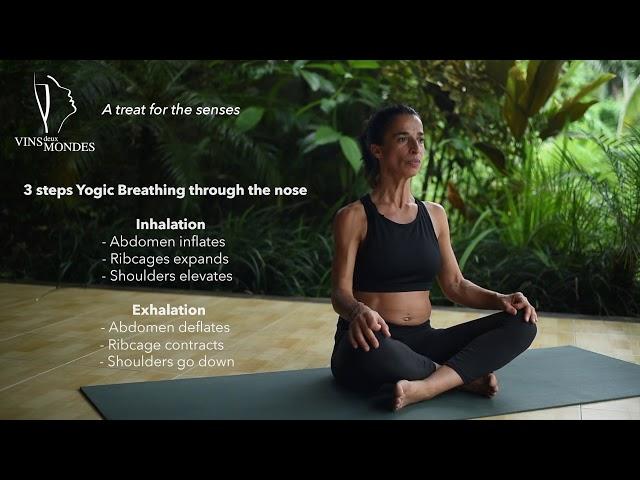 Yogic breathing for all levels- 3 steps breathing - Full version