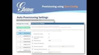 Grandstream Training  Using Zero Config on the UCM6100 series