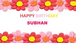 Subhan   Birthday Postcards & Postales - Happy Birthday
